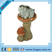 2016 New Design Polyresin Garden Decoration Resin Mushroom with Rabbit