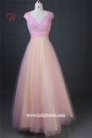 ED15159 Wholesale Alibaba Latest Net Prom Dress Designs Fashion Long Pink Party Tulle Party Pageant Dresses