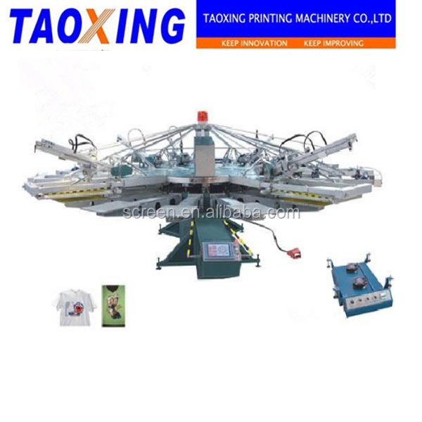 New Condition Full- Automatic Multi-Color screen printing machine For T-shirt