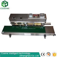 Automatic Table Top continuous plastic food containers sealing machine various styles