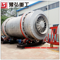 Henan Yuhong New Technology Silica Sand Rotary Dryer, Slag Triple Drum Dryer 3m*7m for Sale