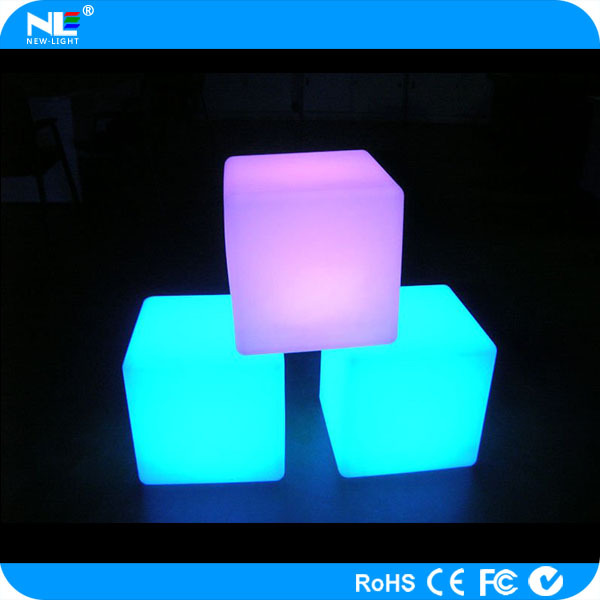 High tech new product remote control color changing waterproof 3d led cube/led cube table and chair for party