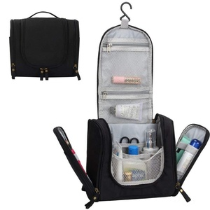 Black toiletry bags toiletry kit travel bag cosmetic