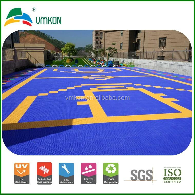 hard plastic tiles floor pp suspended interlocking indoor and outdoor basketball court flooring vha-303015