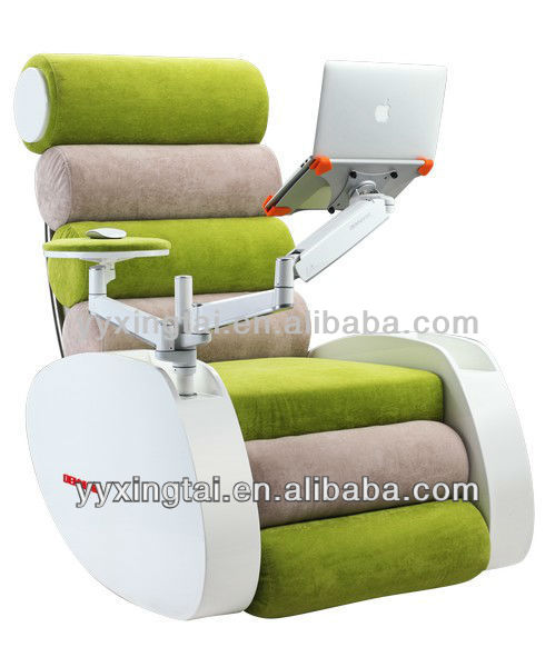 2013 fabric massage armchair with massage laptop support base voice