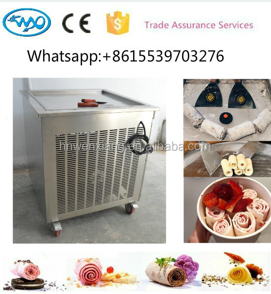 New style stainless steel cold stone marble slab top fry ice cream machine