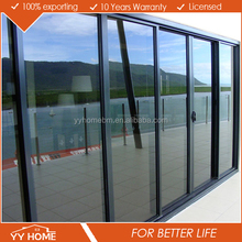 aluminum comercial and residential cheap sliding door and pvc sliding doors for bathrooms