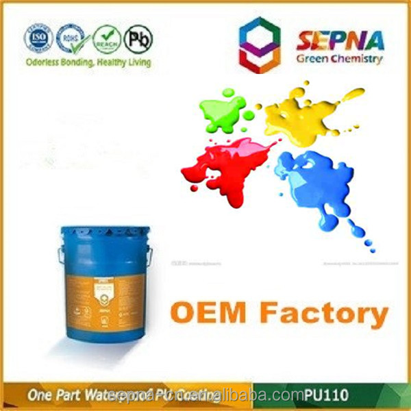 20KG/pail Coloured Polyurethane Waterproof Coating for Buildings