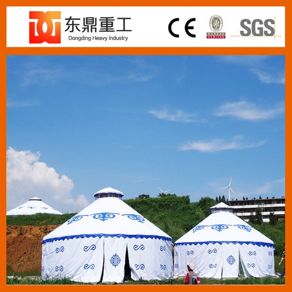 6 m diameter wooden mongolian yurt/bamboo mongolian ger with beautiful type