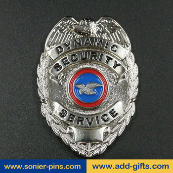 sonier-pins custom metal security badges for clothes with logo