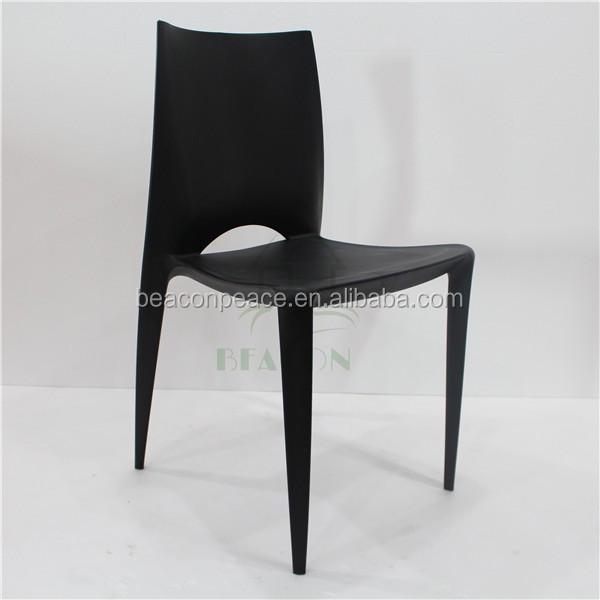 Moderna silla de comedor de pl stico negro sillas de for Sillas comedor plastico