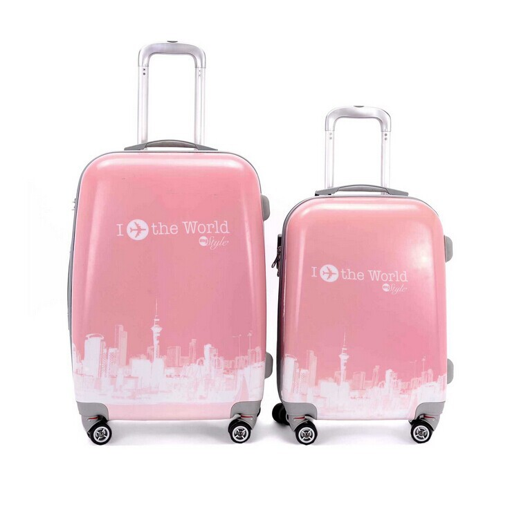 Cathylin 2016 Lovely suitcase cute PC ABS printed luggage for children ,beautiful school luggage