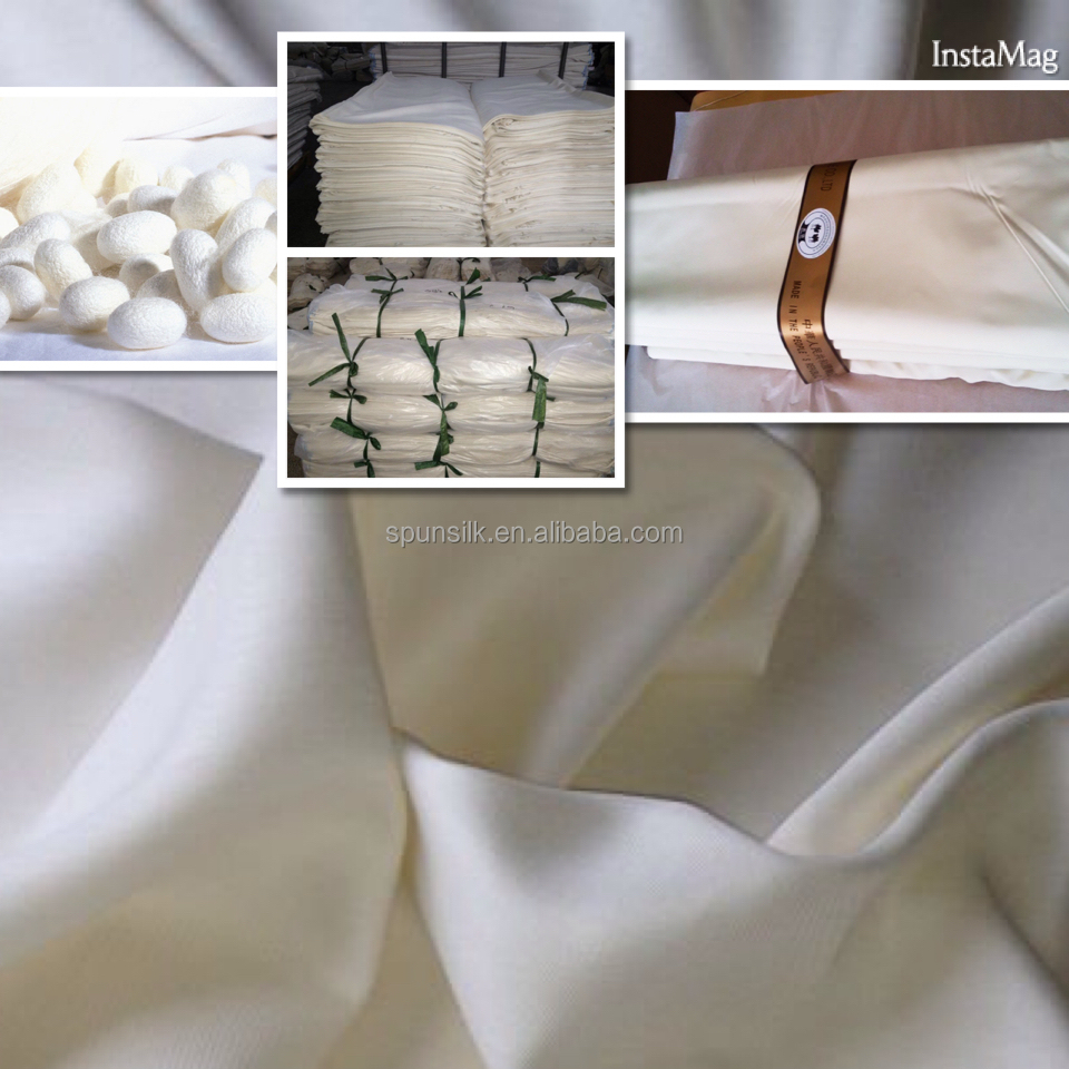 Fabrics import 100% Mulberry spun silk fabric Bosky 30103 for Arabian robe, Free sample