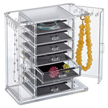 BOK89 6 Drawers Acrylic Jewelry Display Box