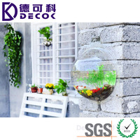 Chinese Manufacture Clear Fish Tank Wallbowl Wall Mount Fishbowl Acrylic Hollow Sphere