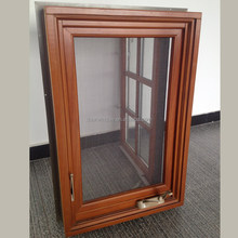 New product one way vision window screen tempered glass insert grille casement window with crank handle
