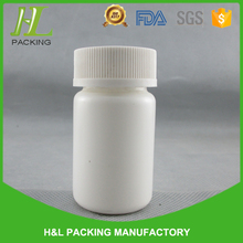 50ml white plastic hdpe medicine bottle, plastic bottle medicine pill with childproof safety cap