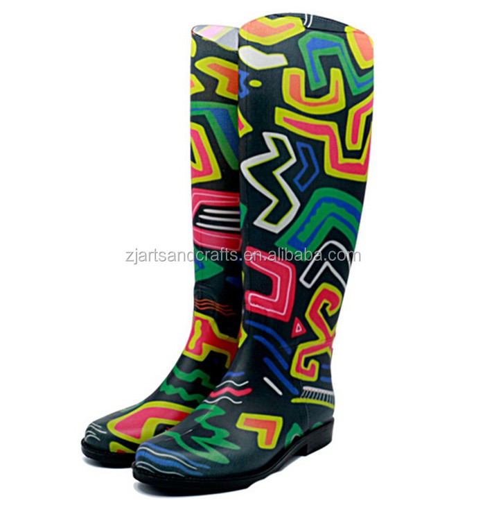 2016 spring fashion pvc jelly rain boot wellies gumboot for ladies