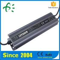 Full Loaded Age testing Waterproof IP67 200W high quality switching power supply 5v 12v 24v