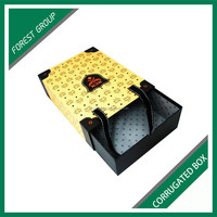 NEW DESIGNING PAPERBOARD COLORED LUXURY SHOES BOXES RECYCLED SHOPPING DRAWER BOX WITH HANDLE