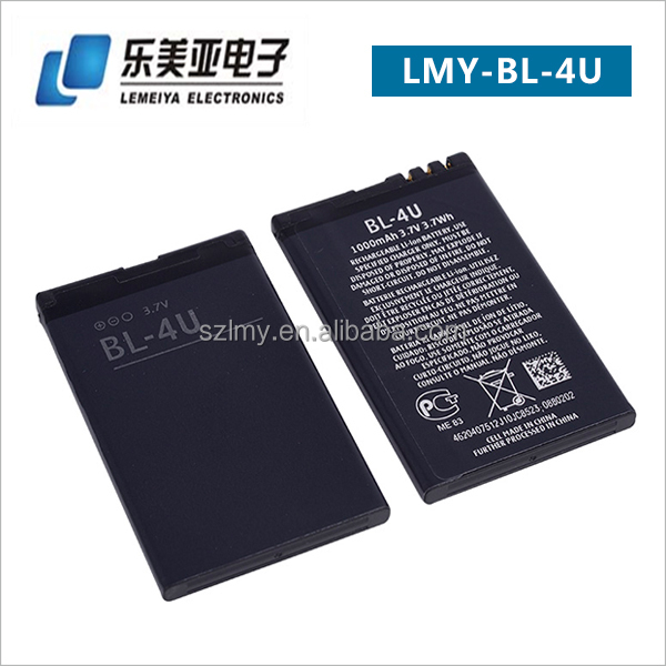 Wholesale Price BL-4U Rechargeable Lithium Ion Battery for Nokia Mobile Phone E66 3120 5530 6300i 6600i 8800S C5-03