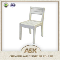 Solid Thailand Rubber Wood Dining Chair with European design style