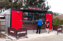 100% Manufacturer with beautiful design fast food shop design, Container restaurant , prefabricated restaurant