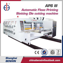 APS III Automatic Flexo 4 color Printing carton box Slotting Die-cutting Machine manufacturer