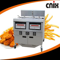 high quality double basket fryer / gas chicken open fryer/ Kfc Gas Open Chicken Fryer