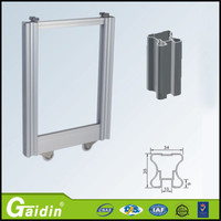 with glossy lamination invisible mosquito net/insect screen/fly screen pvc sliding doors