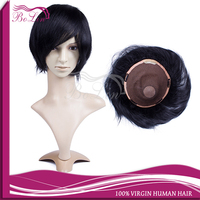 Different Size Different Hair Color Wholesale Brazilian Human Hair Natural skin toupee scalloped