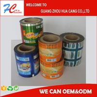 Food packaging film/plastic printed laminated packing film roll for snack