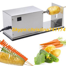 Electric spiral potato slicer / tomato cutter machine