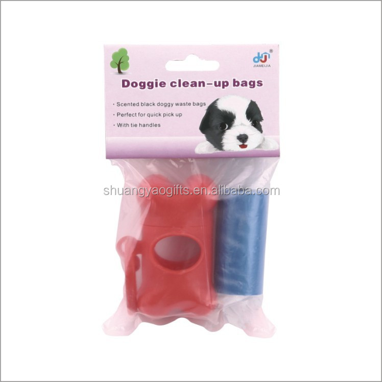 Pet waste bag dispenser +1 rolling dog poop bags garbage case with bags pet waste orgnaizer
