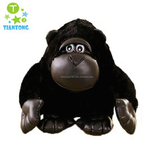 28cm promotional customized stuffed black plush King gorilla forest animal toy