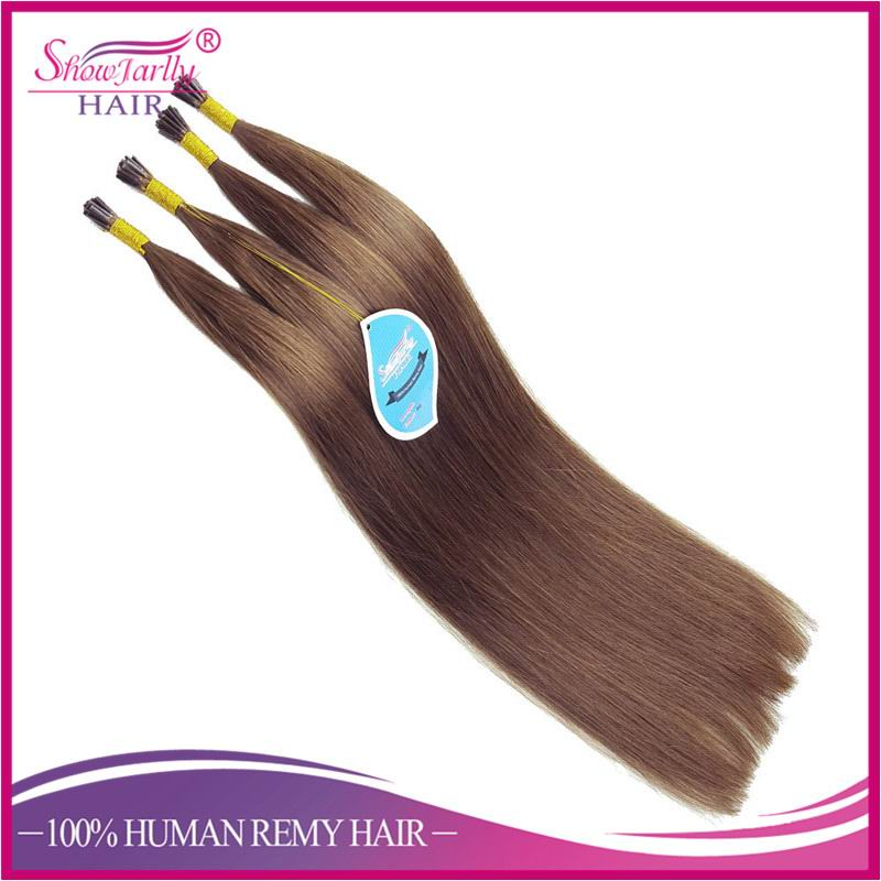 Hot Selling Color #6 Chestnut Brown 100 % 7A Remy Hair 100g GUARANTEE I Tip pre bounded Hair Extenisons