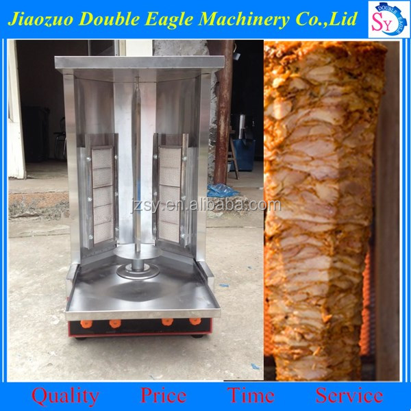 turkey meat barbecue machine /gas heating automatic rotating barbecue grill
