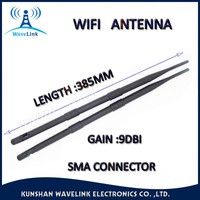 Factory Price 385MM Lenth Long Range Rubber Duck 2.4GHz Whip WIFI Antenna SMA Connector
