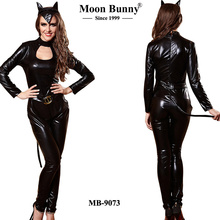 Leather Cat Girl Costume night club DS uniform work clothing COSPLAY COSTUMES