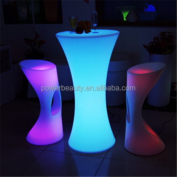 Cheap modern outdoor led illuminated waterproof 16 colors change used cafe furniture