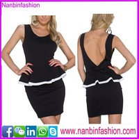 Nanbinfashion hottest black ladies office wear dresses dress for ladies