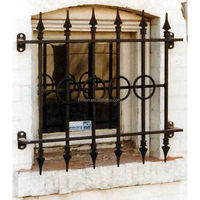wrought steel window grill design for outdoor