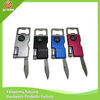 Multifunction metal beer bottle opener / custom bottle opener with LED light and Compass