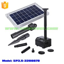 Best-selling fountain kit with DC brushless pump/solar panel/nozzles (SP3.5-320607D)