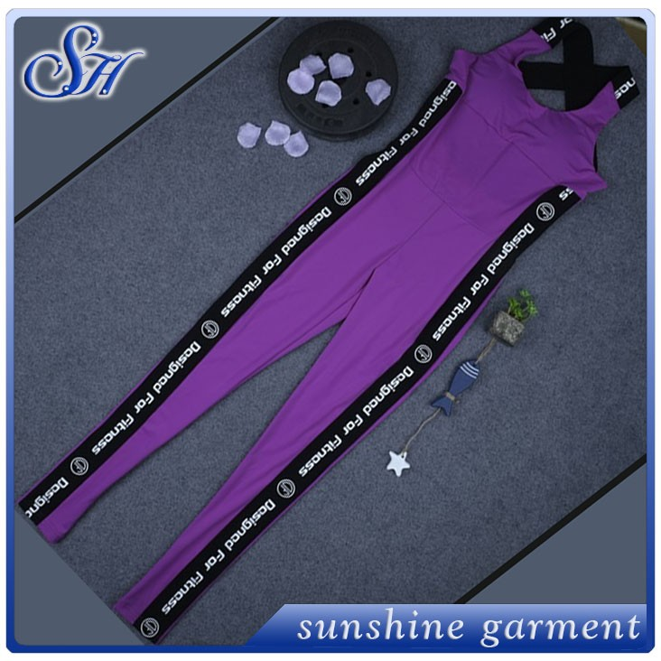gym wear Custom sports 2017 women 's speed through sale yoga sports fitness Siamese trousers