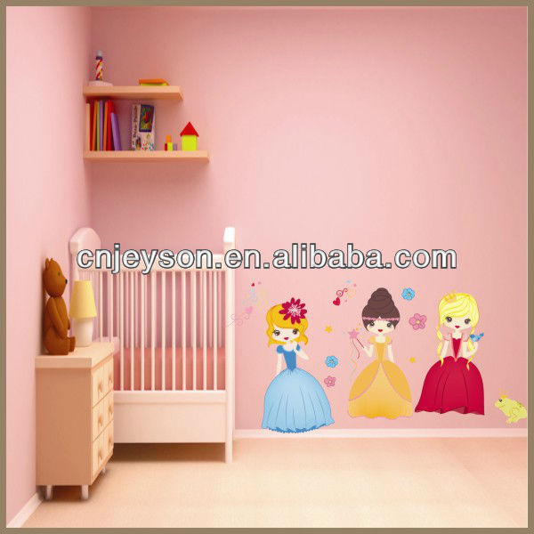 Newest princess vinyl wall art for kid room decoration WS143