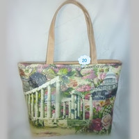 Fashion Secret Garden printed large tote bag for lady