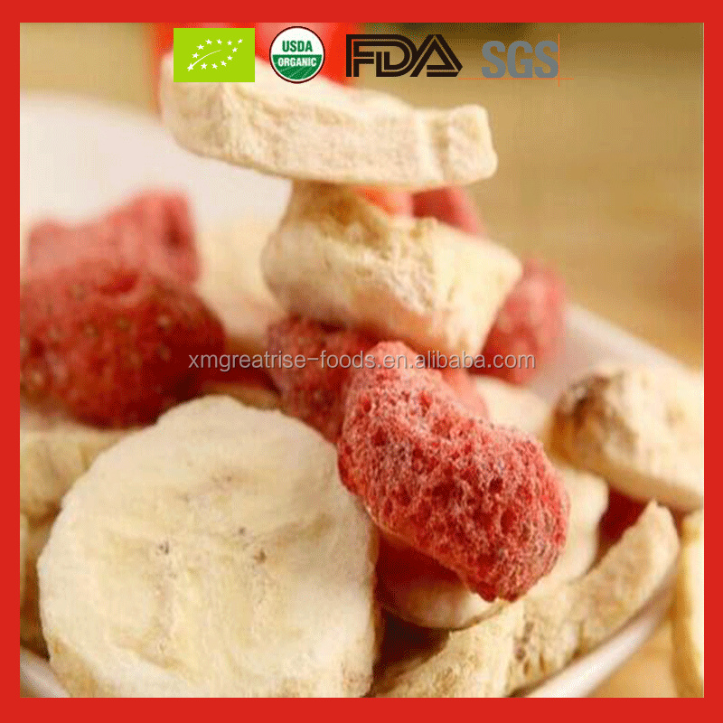 Mixed Fruit Organic Freeze Dried Banana Chips and Freeze Dried Strawberry for Sale