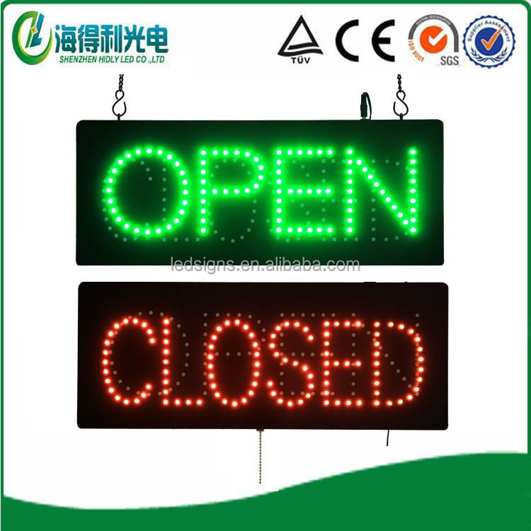 Super brightness amazing hidly acrylic led open closed <strong>sign</strong>