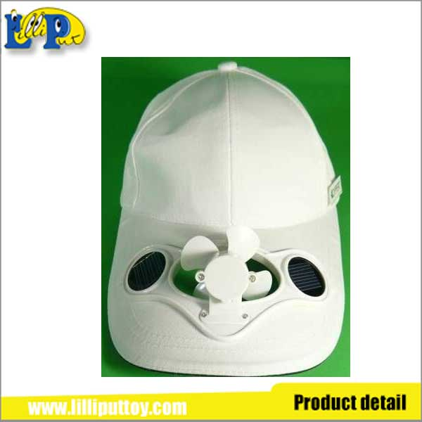 Newest design interesting solar energy baseball cap with fan